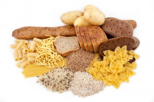picture of various carbs, breads, rice, grains, pasta