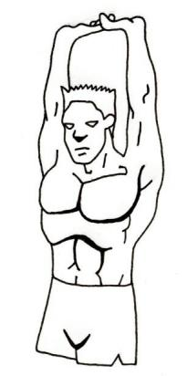 diagram of Stretching lat muscles of the back